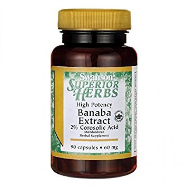 Banaba Extract 2% Corosolic Acid - 60mg High Potency