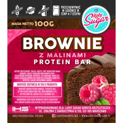 Brownie z malinami Protein Bar