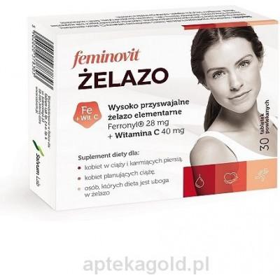 Feminovit Żelazo Elementarne 28mg (Ferronyl)