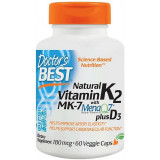 Natural Vitamin K2MK2 with MenaQ7 plus D3