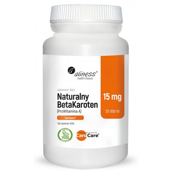 Naturalny BetaKaroten 15 mg CaroCare