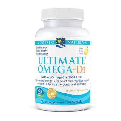 Ultimate Omega D3 (1280mg lemon)