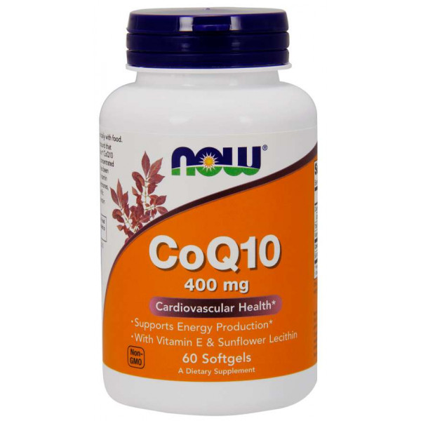 CoQ10 with Vitamin E & Sunflower Lecithin 400mg