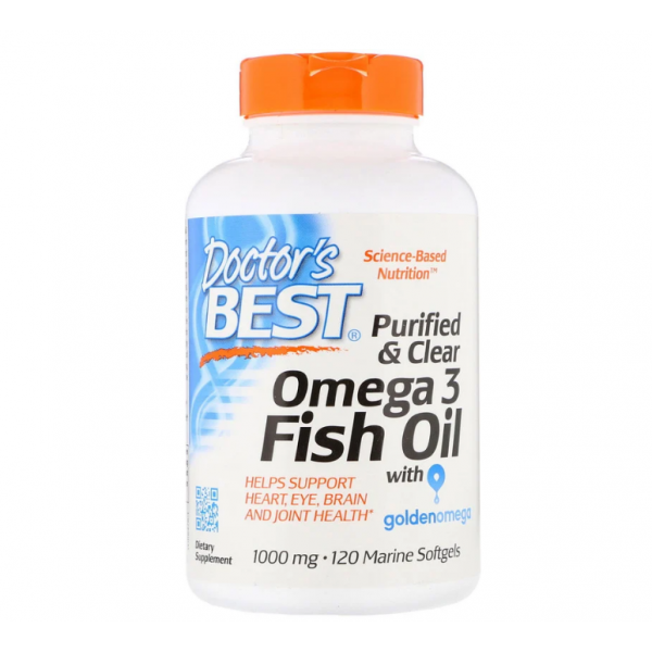 Purified & Clear Omega 3 Fish Oil 1000mg