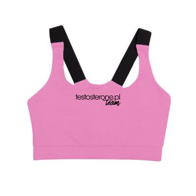WU&S Stanik Sportowy Róż Testosterone.pl