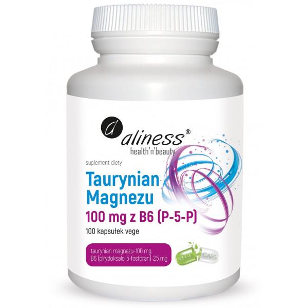 Taurynian Magnezu 100 mg z B6 (P-5-P)