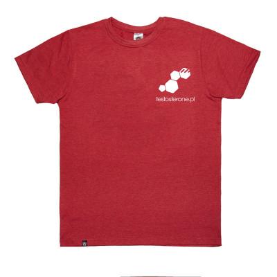 T-shirt Logo Testo WU&S Red