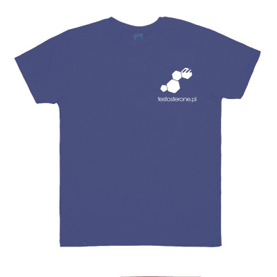 T-shirt Logo Testo WU&S Blue