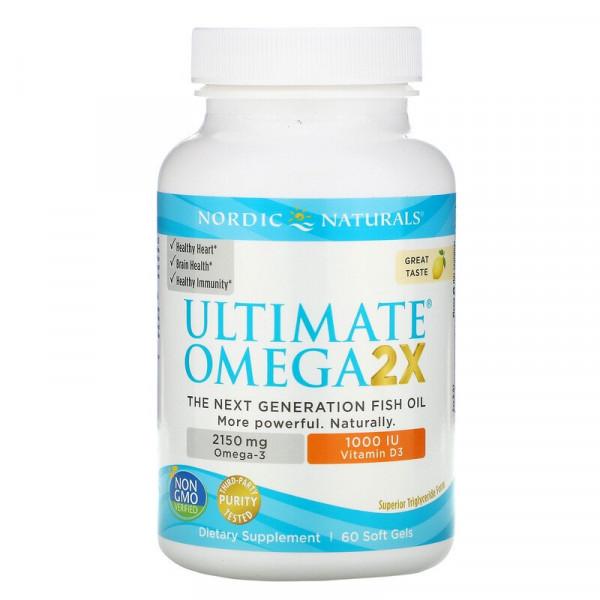 Ultimate Omega 2X with Vitamin D3 2150mg Lemon